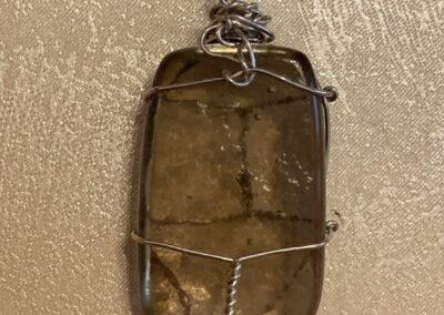 Átlátszó-kerettel- üvegmedál